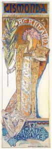 "Mucha Poster for ""Gismonda"" http://www.artinthepicture.com/paintings/Alphonse_Mucha/Gismonda/"